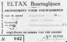 Eltax maand abonnement 1954 -1